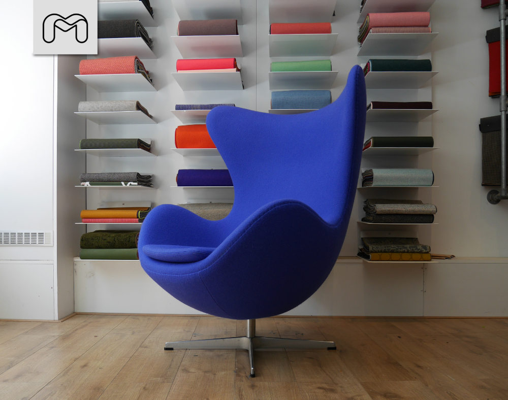 Fritz Hansen Egg chair gestoffeerd door meubelstoffeerderij.nl